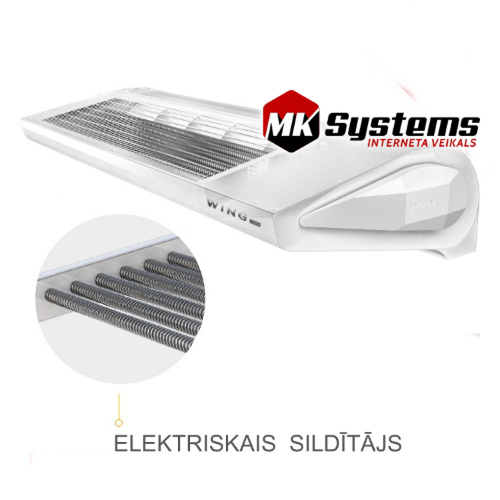 Air Curtains With Electric Heater Vts Wing E150 Mk Systems