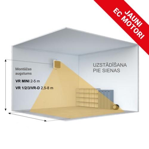 Gaisa pūtējs VOLCANO EC VR MINI 3-20kW NEW 0455
