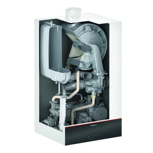 Gāzes kondensācijas apkures katls Viessmann Vitodens 100-W B1KF kombinētais, 25kW