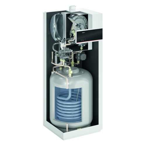 Gāzes kondensācijas apkures katls Viessmann Vitodens 111-F B1SF ar iebūvētu ūdens tvertni, 19kW