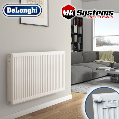 DeLonghi Steel radiator with bottom connections KV10-600*1100