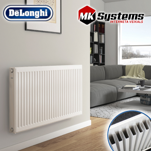 DeLonghi Steel radiator with bottom connections KV11-900*800