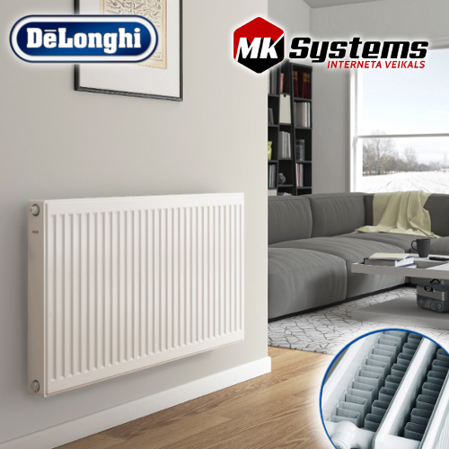 DeLonghi Steel radiator with bottom connections KV33-400*500