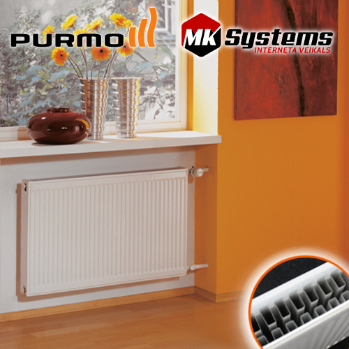 Steel radiators PURMO Compact with side connection 22-300*800