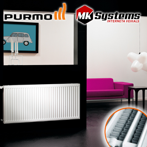 Steel radiators PURMO Compact with side connection 33-900*800