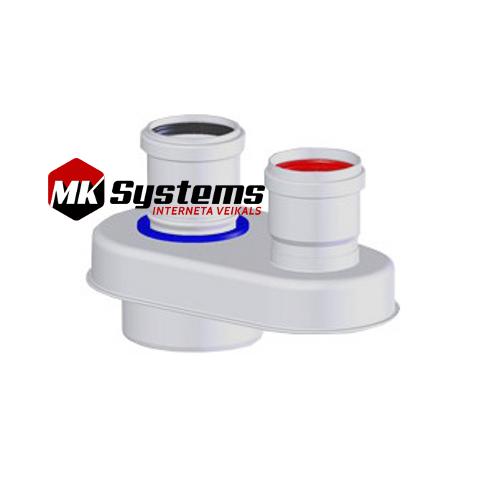 Kondensācijas katlu skursteņu adapteris D60/100-60/60