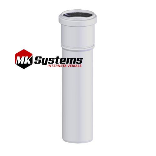 Kondensācijas katlu skursteņu caurules D80 1m CG