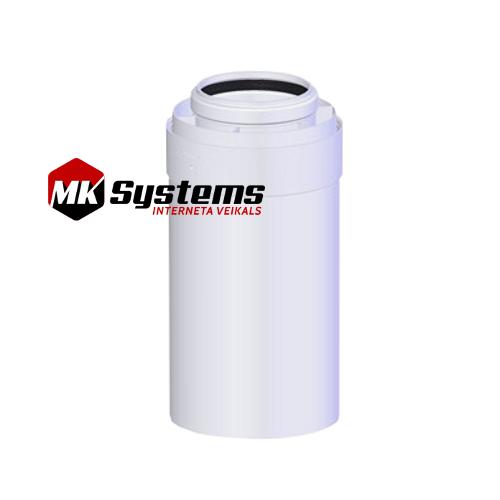 Kondensācijas katlu skursteņu caurules D60/100 0.5m CG